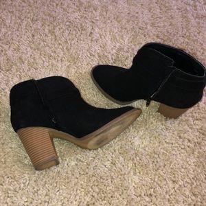 Block heeled booties